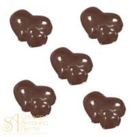 Форма для отливки шоколадных фигурок - Двойные сердца (90-1016)