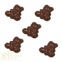Форма для отливки шоколадных фигурок - Мишка с сердцем (90-1018)