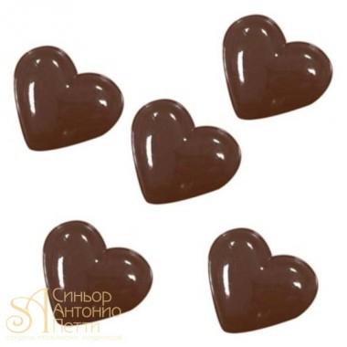 Форма для отливки шоколадных фигурок - Большие сердца (90-1026)