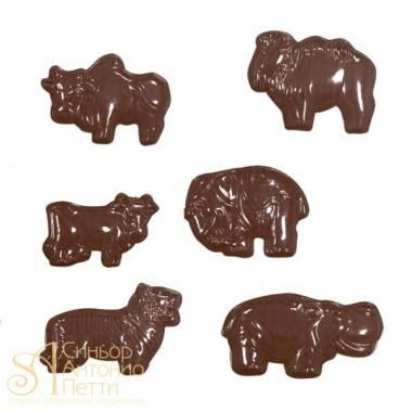 Форма для отливки шоколадных фигурок - Африканские животные (90-11185)