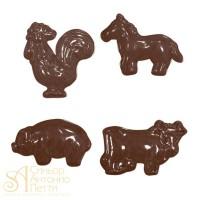 Форма для отливки шоколадных фигурок - Домашние животные (90-11210)