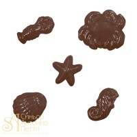 Форма для отливки шоколадных фигурок - Морские формы (90-12816)