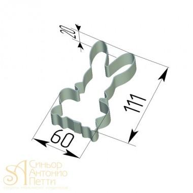 Металлическая вырубка - Заяц (CUT HARE1)