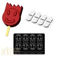 """Силиконовая форма для мороженого - """"Смайлик мальчик"""", 40*30см. (HF 05756)"""