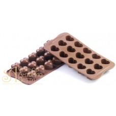 Силиконовая форма для конфет - Сердце (SCG 01)