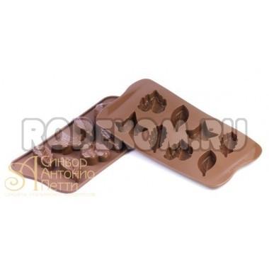 Силиконовая форма для конфет - Листья (SCG 10)