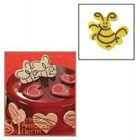 Набор форм для создания шоколадных конфет с рисунком - Пчела, 2шт. (20-C007)