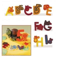Набор форм для создания шоколадных конфет с рисунком - Веселые буквы A-I, 2шт. (20-C018)