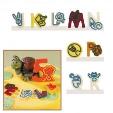 Набор форм для создания шоколадных конфет с рисунком - Веселые буквы J-R, 2шт. (20-C019)