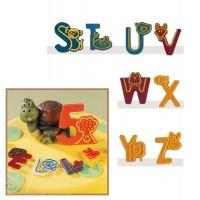 Набор форм для создания шоколадных конфет с рисунком - Веселые буквы S-Z, 2шт. (20-C020)
