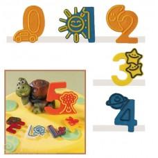 Набор форм для создания шоколадных конфет с рисунком - Веселые цифры 0-4, 2шт. (20-C021)