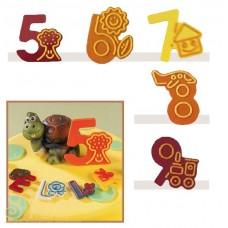 Набор форм для создания шоколадных конфет с рисунком - Веселые цифры 5-9, 2шт. (20-C022)