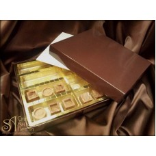 Упаковка для конфет Granfiocco - Темно-Коричневая, 22,5*20*h3см. (NAGFP24TM)
