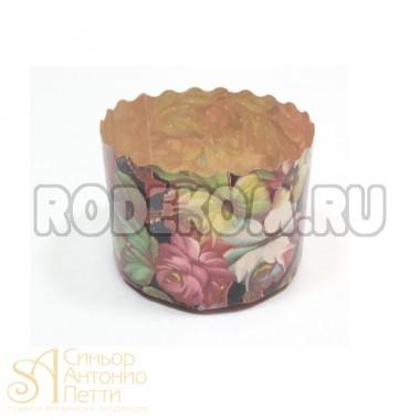 Бумажная куличная форма - Цветы, 60/45мм. 75гр. 50шт. (P 60/45 F/50p)