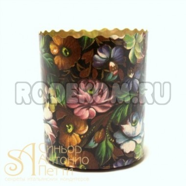 Бумажная куличная форма - Цветы, 70/85мм. 150гр. 5шт. (P 70/85 F/5p)
