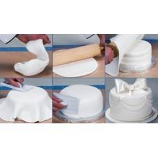 Таблица расчета количества мастики необходимого для обтяжки торта