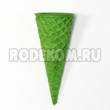 """Рожок вафельный """"Стандарт 110"""" Зеленый, 5 шт."""